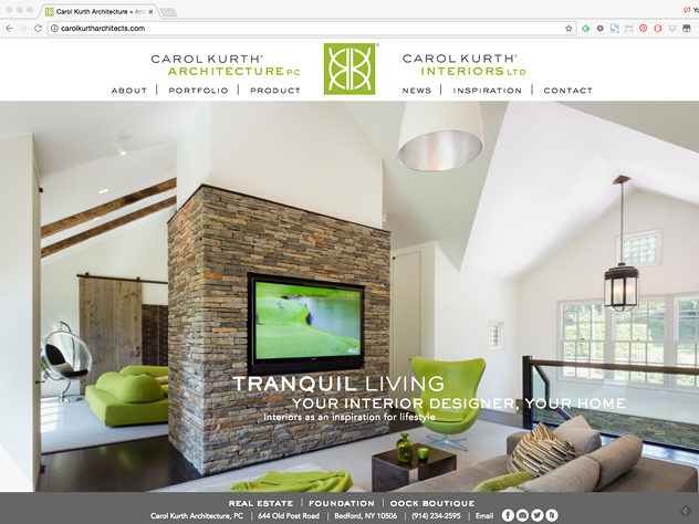 Carol Kurth Architects Website Design Wyman Projects