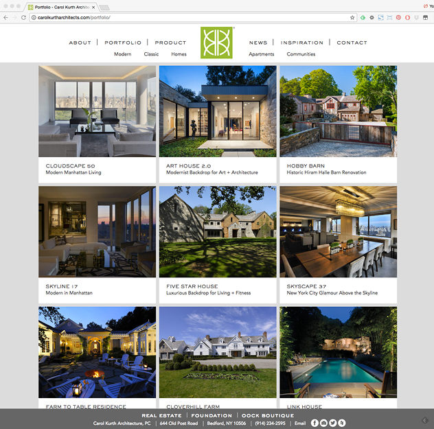Carol Kurth Architects Website Design Wyman Projects Graphic Design For Architects