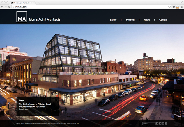Morris Adjmi Architects Website And Identity Design   Wyman Projects  Graphic Design For Architects